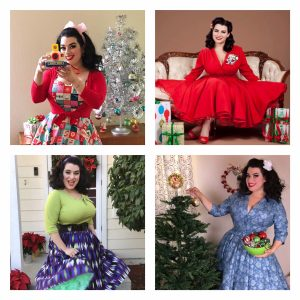 Yasmina Greco 12 Days of Christmas Pinup Girl Style