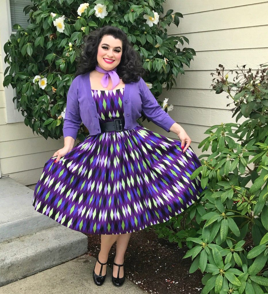 Yasmina Greco - Purple Harlequin Jenny Dress