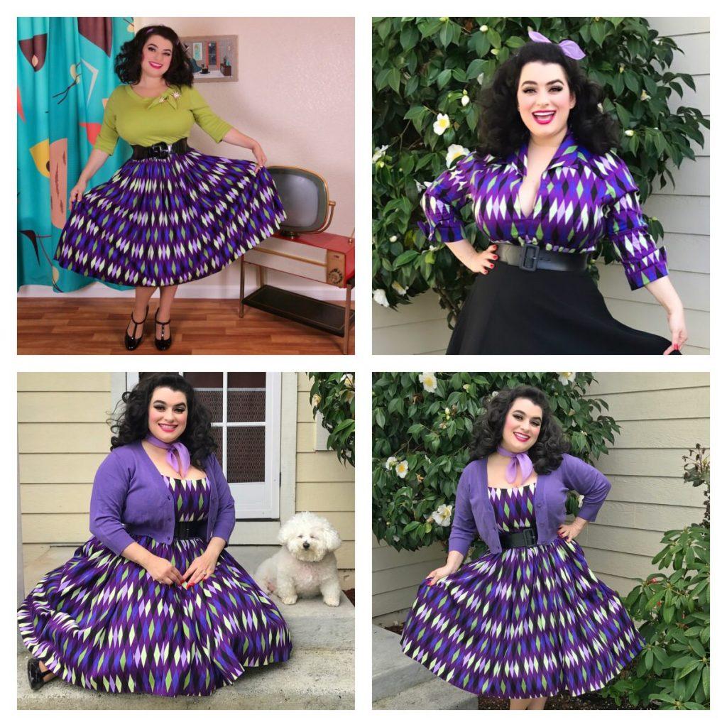 Yasmina Greco - Pinup Girl Purple Harlequin