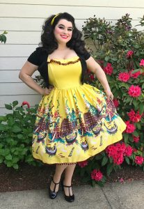 Pinup Couture Bella Donna Dress Yellow Italian Landscape