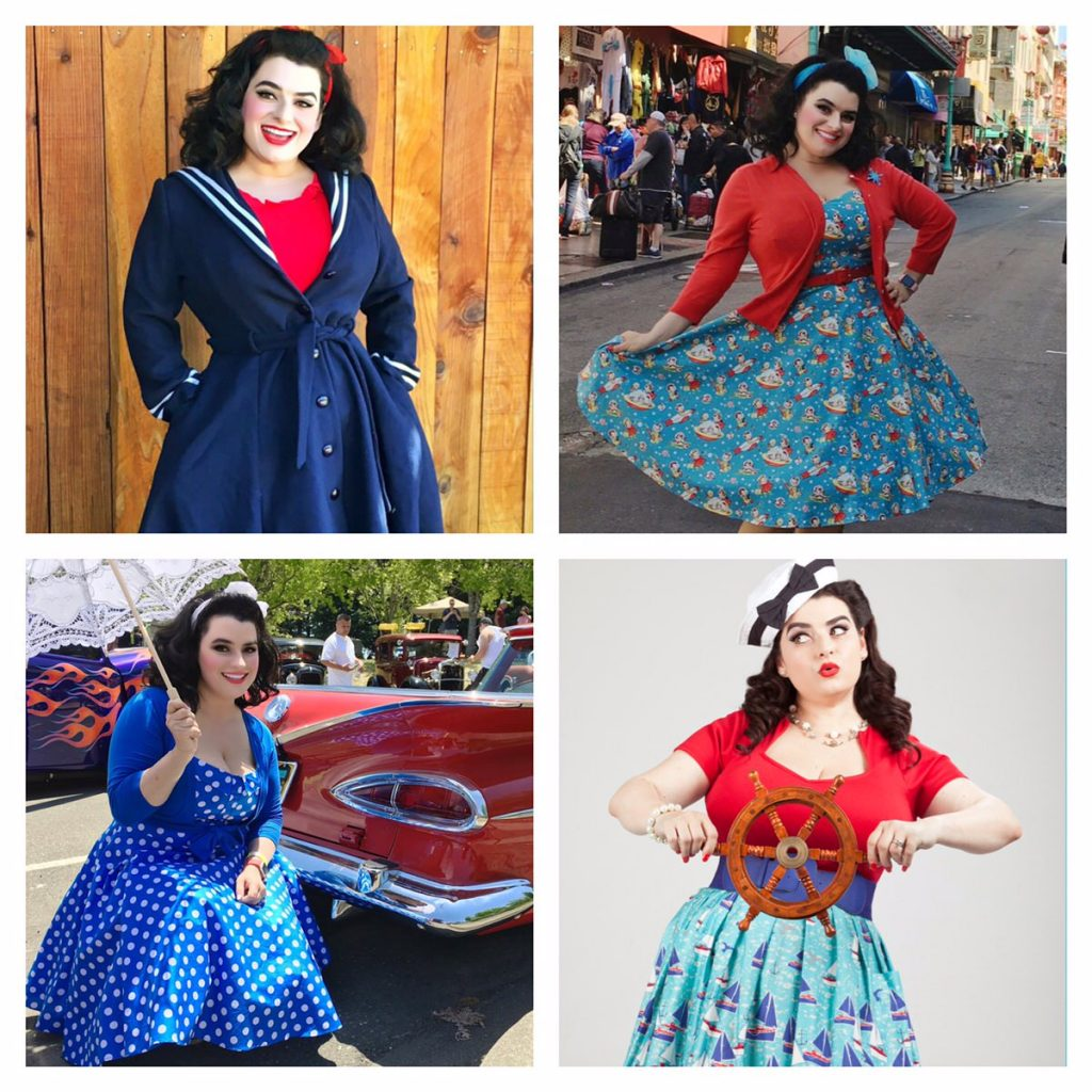 4th of July Yasmina Greco Pinup Outfits