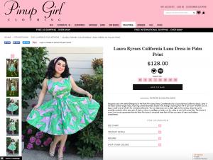 Yasmina Greco - Laura Byrnes California Lana Dress in Palm Print