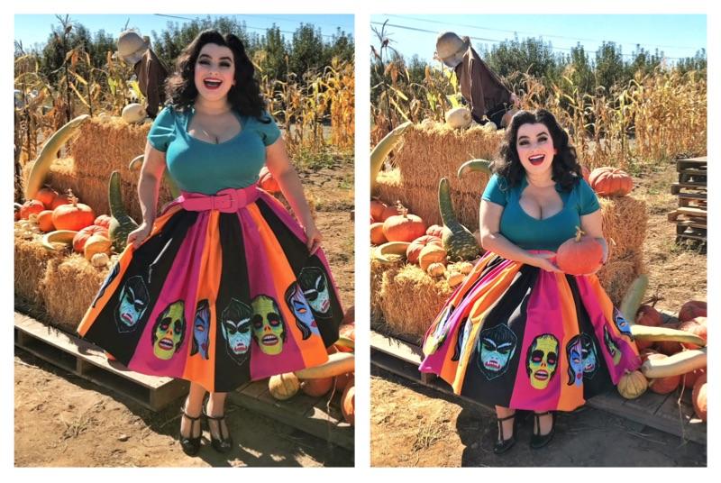 Yasmina Greco - Ben Cooper Monster Mask Vixen Pinup Swing Skirt