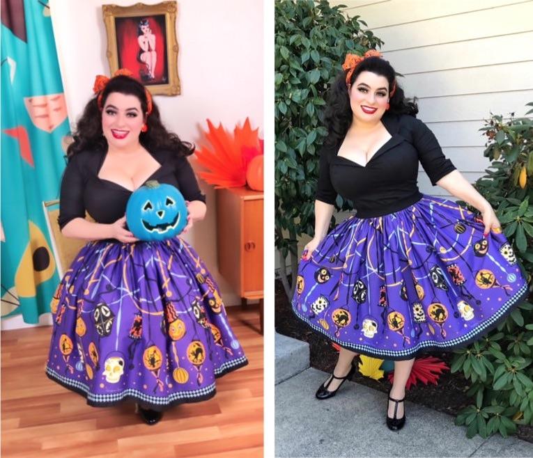 Yasmina Greco - Pinup Girl CLothing Halloween Jenny Skirt