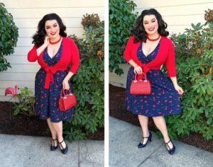 Yasmina Greco Lindy Bop Dawn Cherry Dress