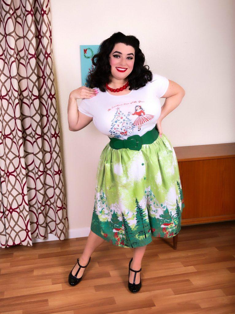 Yasmina Greco Pinup Christmas T-Shirt Crazy4Me Style
