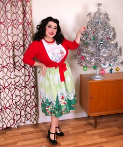 Vintage Pinup Christmas T-Shirt Pinup Art Crazy4Me Style
