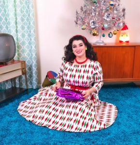 Holiday Harlequin Pinup Girl Clothing Yasmina Greco