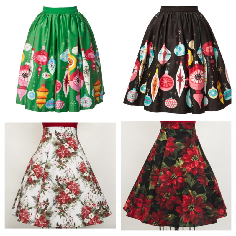 Ornament Skirt Christmas Pinup Girl Clothing