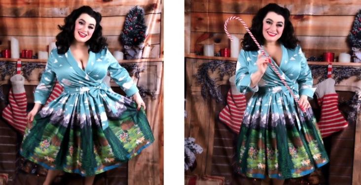 Yasmina Greco Lindy Bop Vivi Alpine Swing Dress