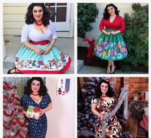 Yasmina Greco 12 Days of Christmas Pinup Fashion
