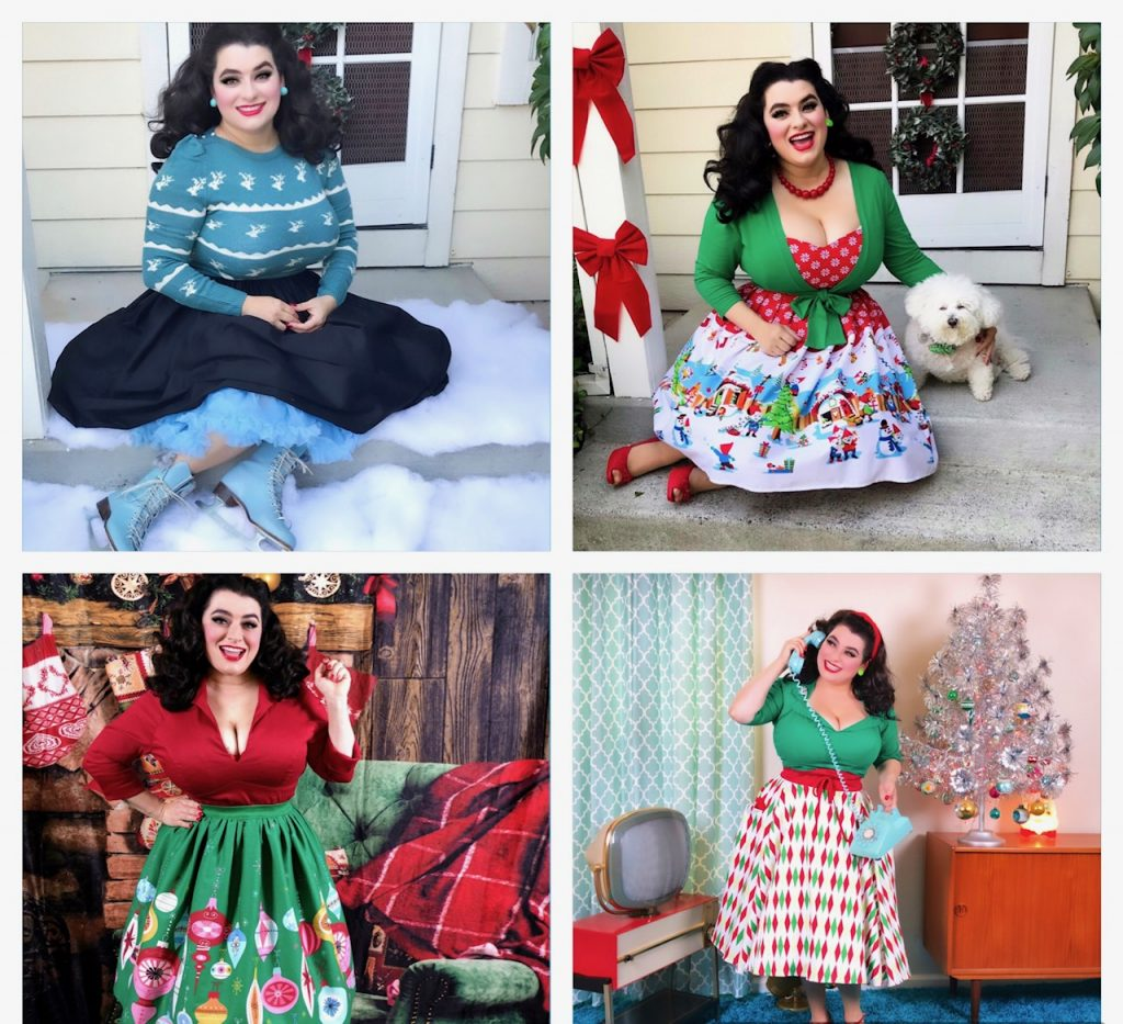 Yasmina Greco 12 Days of Christmas Pinup Fashion