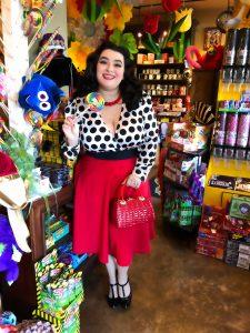 Yasmina Greco Polka Dot Windsor Powell's Sweet Shoppe