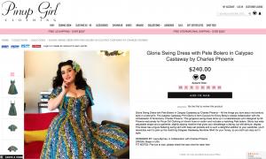 Yasmina Greco Gloria Swing Dress with Pele Bolero in Calypso Castaway by Charles Phoenix