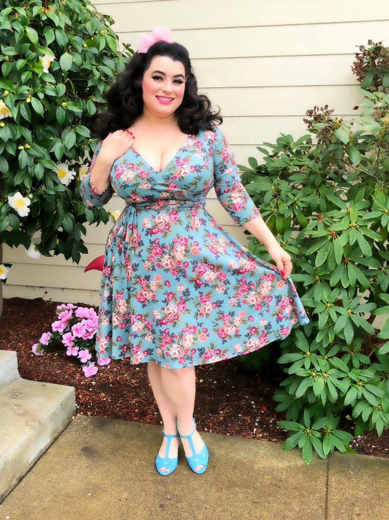 Yasmina Greco Heart of Haute Pinup Donna dress in Vintage Rose Sage