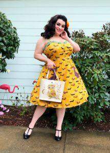 Lindybop Corinna Dachshund Print Swing Dress