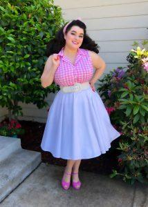 Betsy Blouse Pink Plaid Heart of Haute Yasmina Greco