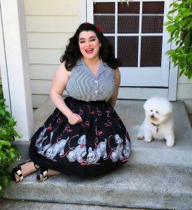 Betsy Blouse Candy Striped Black Heart of Haute Yasmina Greco Luna