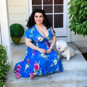 Yasmina Greco - Lady Voluptuous Lyra Dress Summer Blue