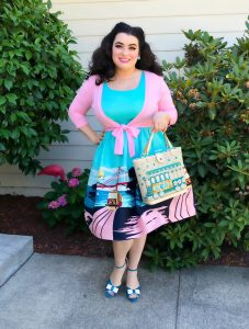 Yasmina Greco Modcloth Collectif Golden State of Mind A-Line Dress