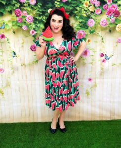 Yasmina Greco Crazy4Me Lady V Watermelon Lyra Dress