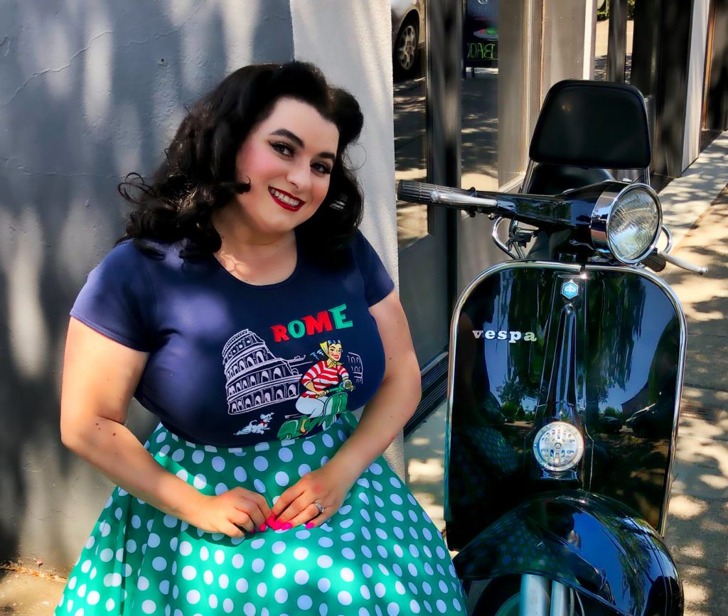 Vespa Girl Rome Italy La Dolce Vita T-Shirt Crazy4Me Style