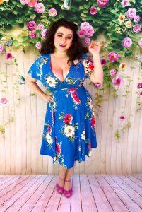 Yasmina Greco - Ladly V London Lyra Dress Summer Blue