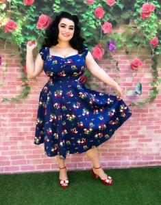 Modcloth Dolores Gnome Print Doll Dress