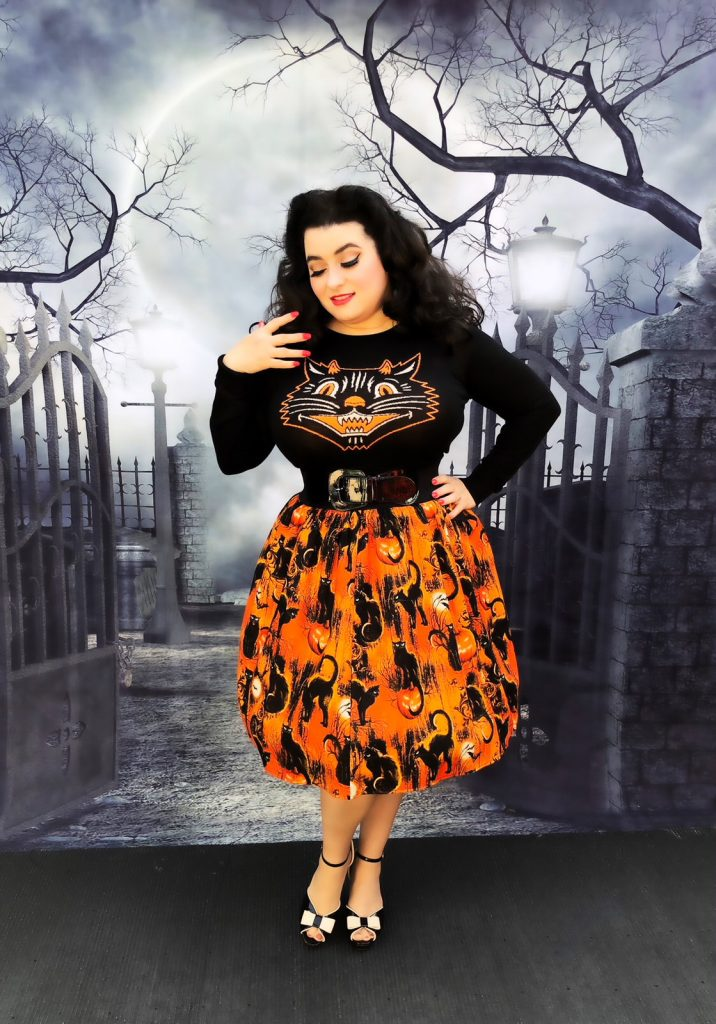 Artisan Skirt Halloween Cat skirt Sourpuss Lucy Fur Sweater