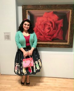 SFMOMA Magritte Rose Painting Yasmina Greco
