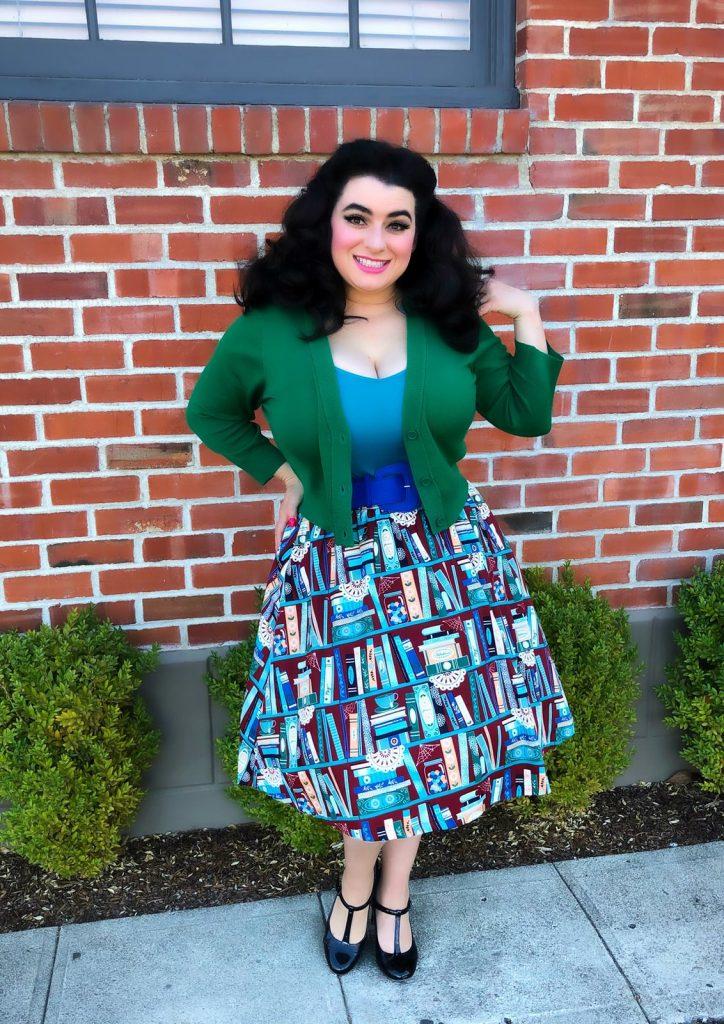 Yasmina Greco Petaluma Lindy Bop Book Skirt