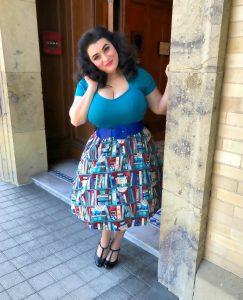 Yasmina Greco Petaluma Lindy Bop Book Skirt Historical Museum