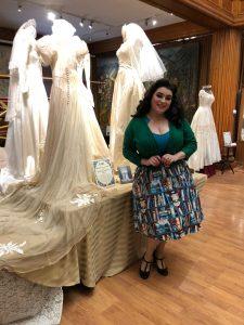 Yasmina Greco Petaluma Lindy Bop Book Skirt Historical Museum Vintage Wedding Dresses