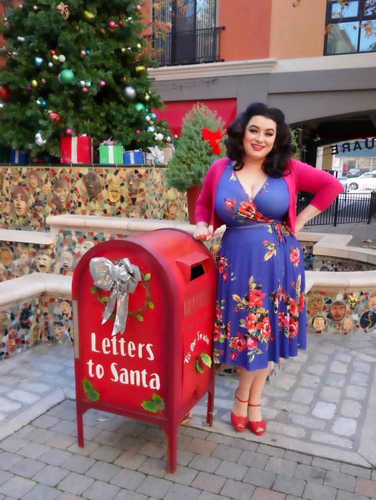 Yasmina Greco Holiday Christmas Lyra Dress Petaluma Lady Voluptuous Letters to Santa