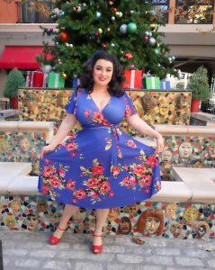 Yasmina Greco Holiday Christmas Lyra Dress Petaluma Lady Voluptuous