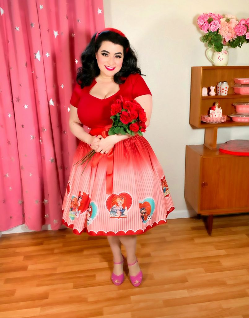 Valentines Day Pinup Outfit Mid-Century Modern Pyrex