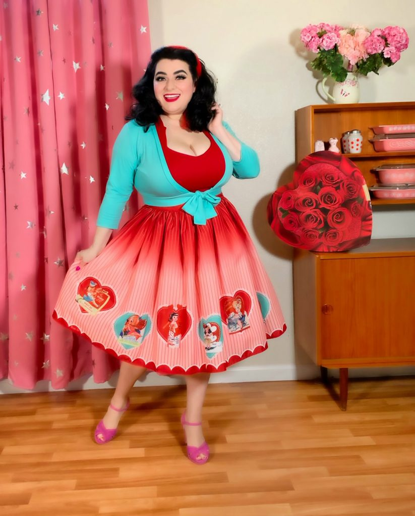 Pinup Valentines Day Outfit Pinup Girl Mid-Century Modern Pyrex