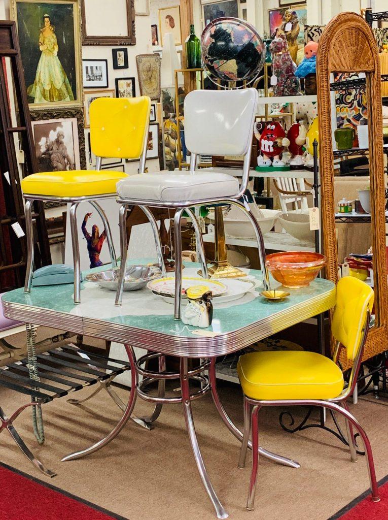 Stuff San Francisco Yasmina Greco Mid-Century Modern 1950s Chrome Kitchen Table