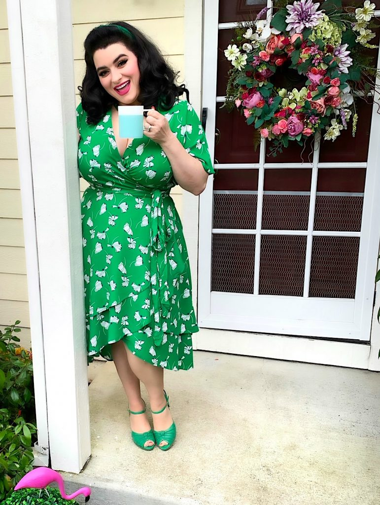 Eloquii Petal Pusher Wrap Dress Review Yasmina Greco Crazy4me