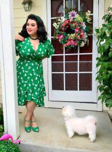 Eloquii Petal Pusher Wrap Dress Review Yasmina Greco Crazy4me