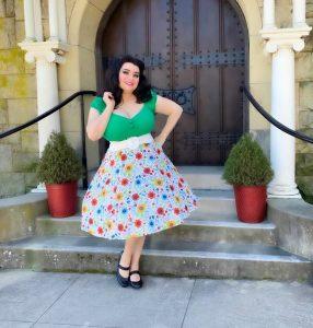 Yasmina Greco wearing Heart of Haute & Collectif Clothing