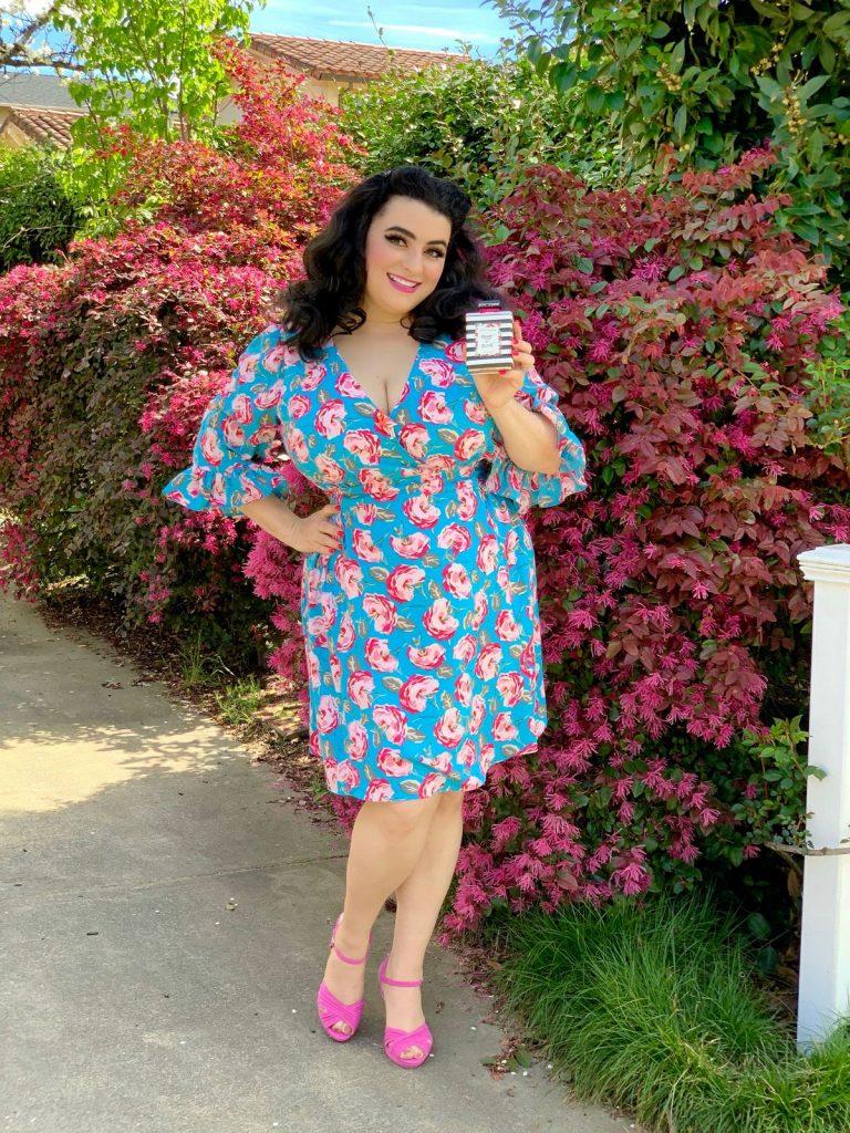 Betsey Johnson Vintage Rose Floral Printed Dress Pretty N Punk Perfume