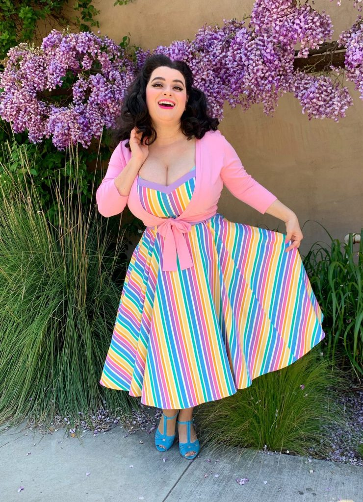 Yasmina Greco Wisteria Rainbow Dress