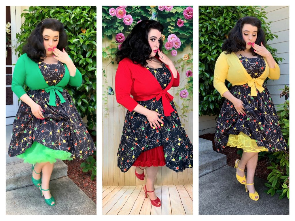 Yasmina Greco Love Ur Look Retro Pinup Dress Crazy4Me 1950s Atomic