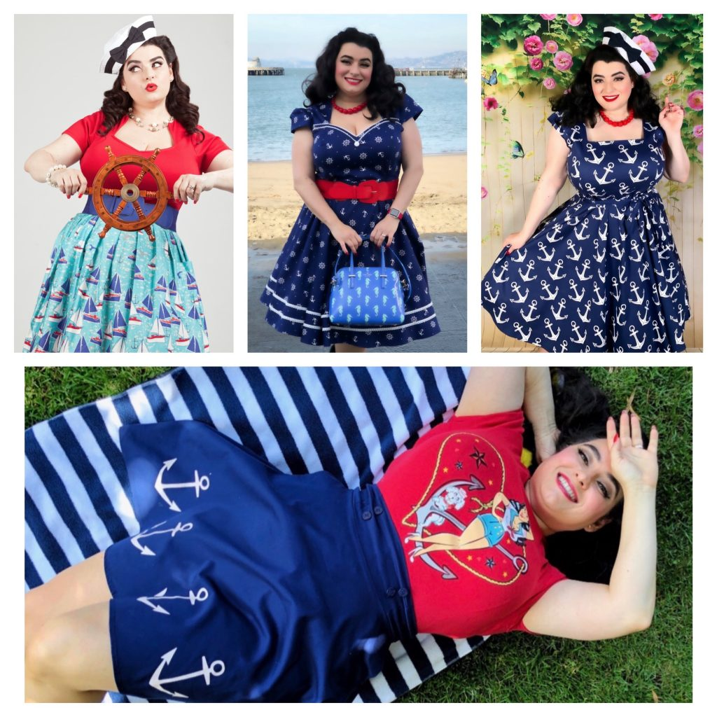 Curvy Nautical Patriotic Style - Yasmina Greco