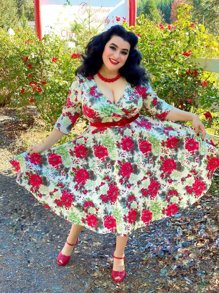 Yasmina Greco Hell Bunny Christmas Pinup Dress