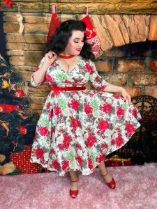 Yasmina Greco Curvy Girl Christmas Dress Hell Bunny