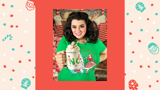 Crazy4Me Style Christmas Holiday Top in Winter Pine Green