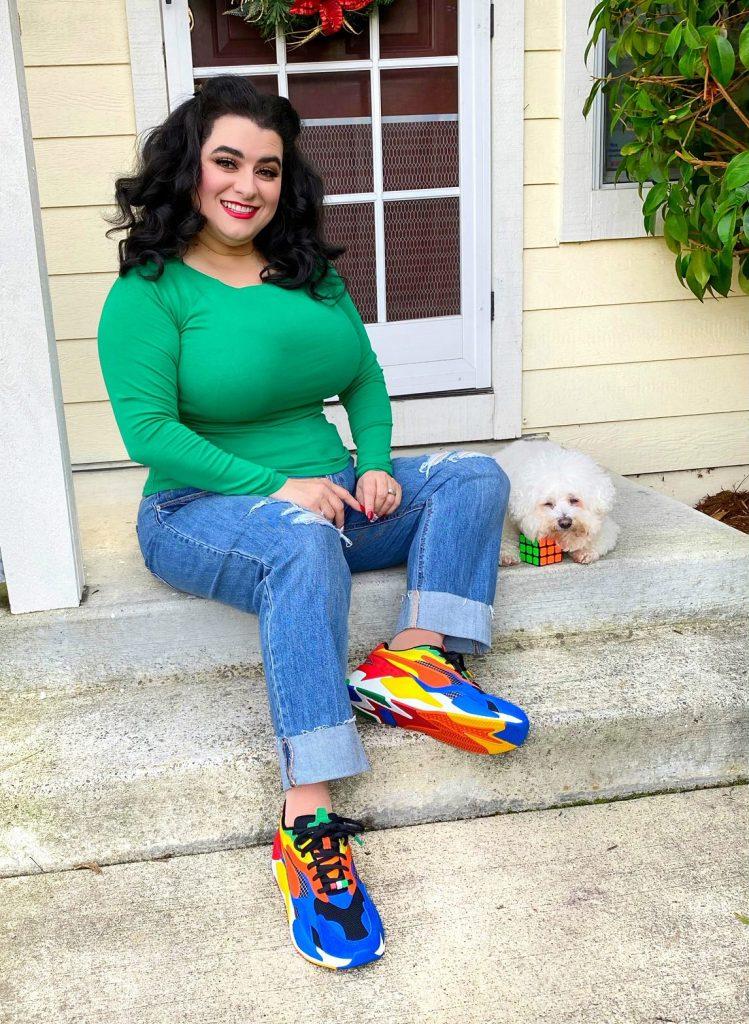 Yasmina Greco Puma RS x Rubik's Cube Sneakers