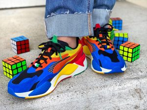 Yasmina Greco Puma RS x Rubik's Cube Shoes